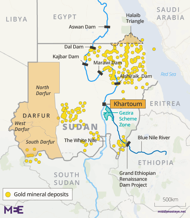 Blood and gold: Now Sudan's land wars have spread to mining   Middle on