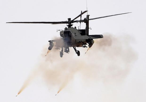 Britain sold Israel components for the US-made Apache helicopter which have been used inside Gaza