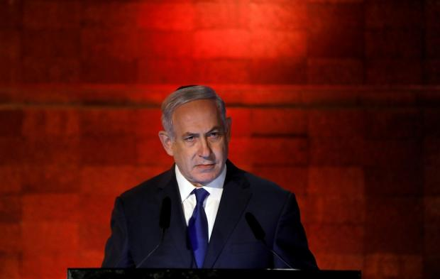 The founding charter of the Likud party of Prime Minister Benjamin Netanyahu expressly envisions a Greater Israel that denies Palestinians any hope of statehood (Reuters)