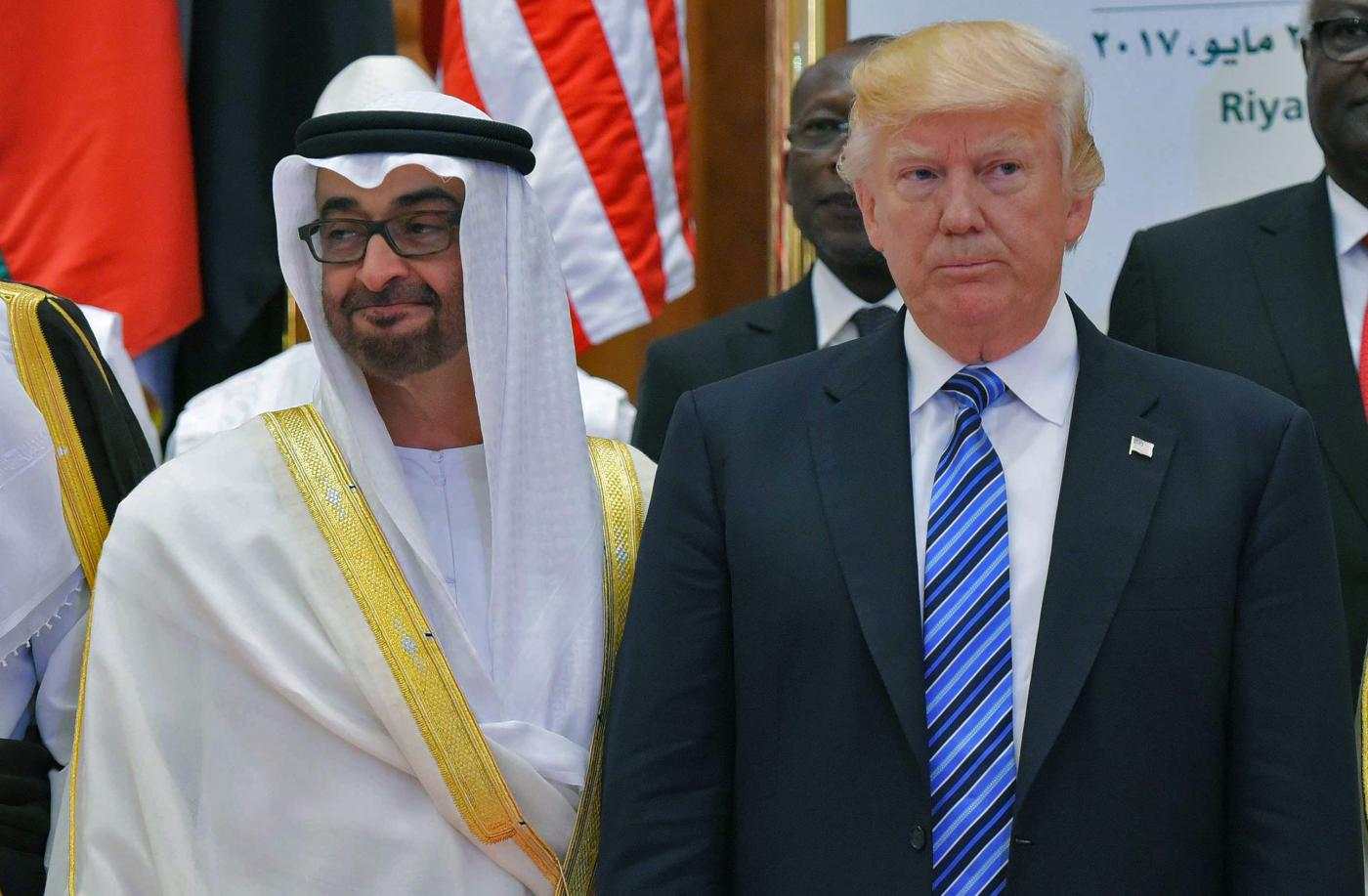 Abu Dhabi Crown Prince Mohammed bin Zayed with US President Donald Trump (AFP/file photo)