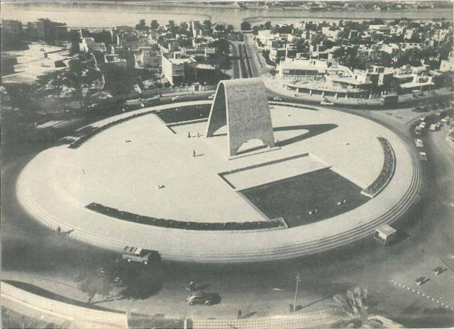 Rifat Chadirji's Unknown Soldier Monument prior to its destruction by Saddam Hussein