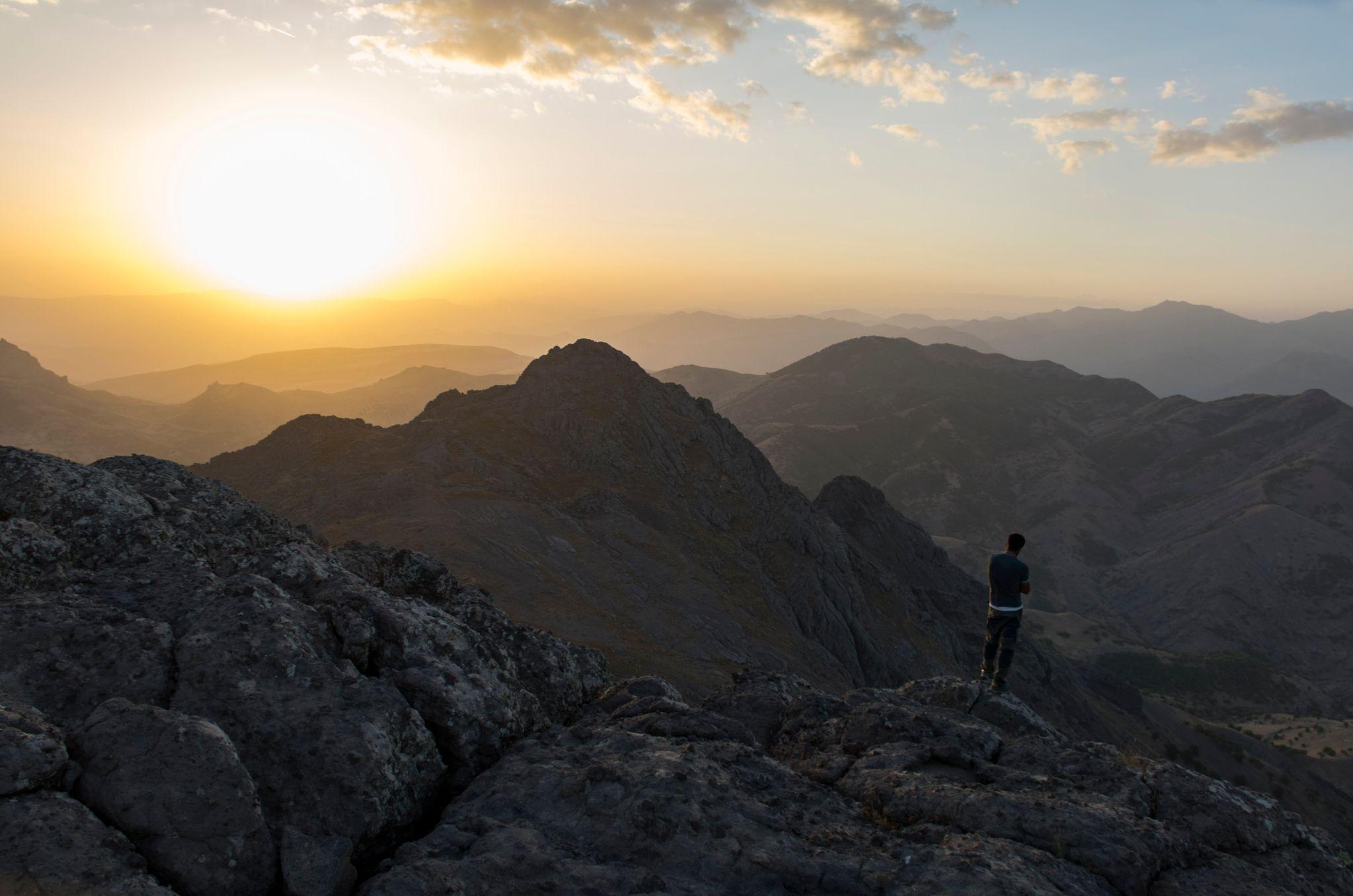 Murat Babyigit na planini Duzgun Baba (MEE / Nick Ashdown)