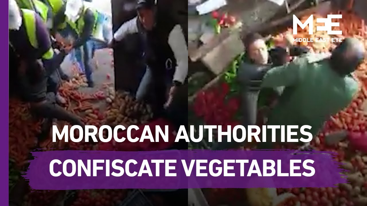 Moroccan authorities confiscate vegetables