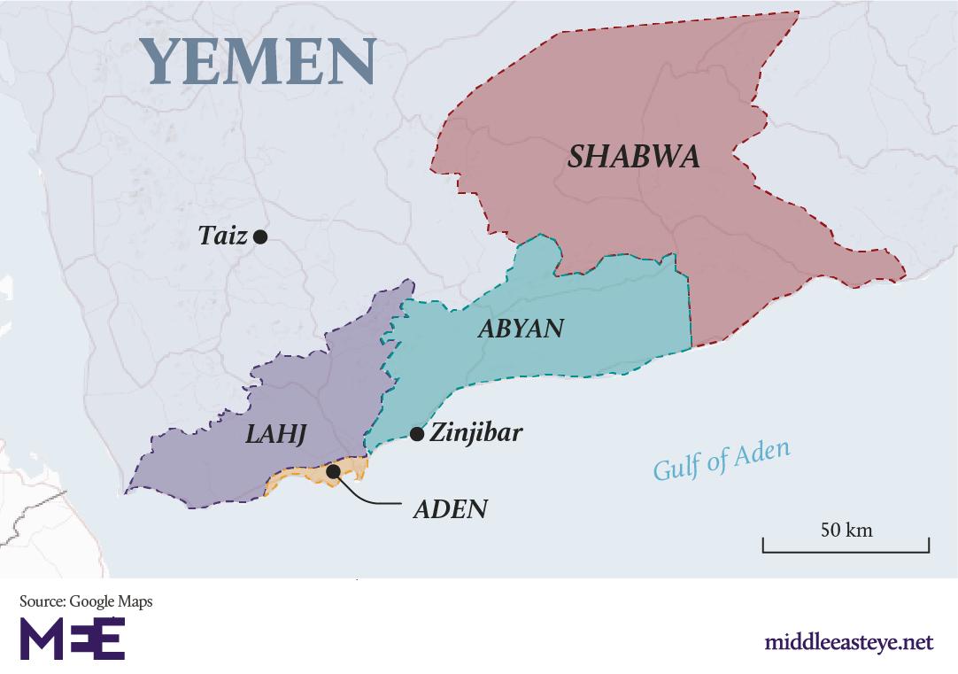 Yemeni government claims control of Aden as secessionist ... on persian gulf map, taiz map, jaar map, damascus map, abadan map, arabian sea, merca map, middle east map, strait of gibraltar, gulf of oman, kusti map, horn of africa, denim map, tanzania map, ceylon map, gulf of aqaba, dubai map, cairo map, karamay map, bay of bengal, sinai peninsula map, piracy in the strait of malacca, red sea, pegu map, medina map, dead sea map, al hofuf map, piracy in somalia, indus river map,